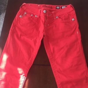 COLORED Miss Me Jeans- And Orange/Red color